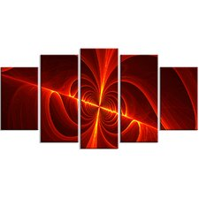 Red Laser 5 Piece Graphic Art on Wrapped Canvas Set