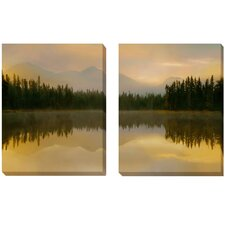 'Twilight Reflection' by Delimont 2 Piece Photographic Print on Wrapped Canvas Set