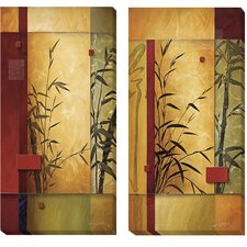'Garden Dance I & II' by Don Li-Leger 2 Piece Graphic Art on Wrapped Canvas Set