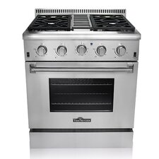 Professional 5.2 Cu. Ft Gas Range in Stainless Steel