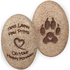 Dog Paw Print Decorative Stone