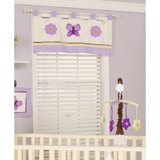 """Lavender Butterfly 38"""" Curtain Valance"""