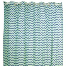 Zigzag Elephant Cotton Shower Curtain