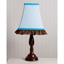 "Pam's Blue Petals 8"" H Table Lamp with Empire Shade"