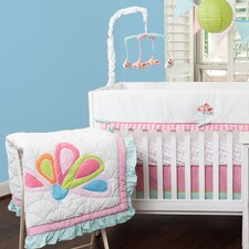 Aqua Peacock 10 Piece Crib Bedding Set