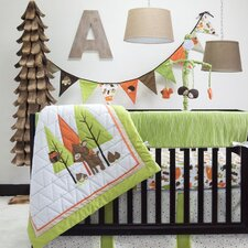 Charming Forest 6 Piece Crib Bedding Set