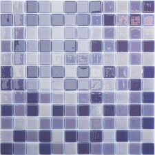 "Lux Eco 12.375"" W x 12.375"" L Glass Mosaic in Northern Lights"