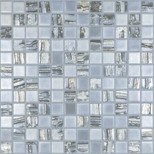 "Moon Blends 12.375"" W x 12.375"" L Eco Glass Mosaic in Shooting Star"