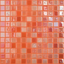 "Lux Eco 12.375"" W x 12.375"" L Glass Mosaic in Orange Blossom"