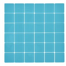 "Traditional 2"" x 2"" Glass Mosaic Tile in Bermuda Blue"