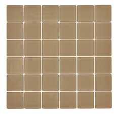 "Traditional 2"" x 2"" Glass Mosaic Tile in Manatee"