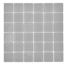 "Traditional 2"" x 2"" Glass Mosaic Tile in Cloud"