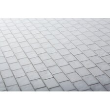 "The Studio 11.13"" x 11.13"" Glass Mosaic Tile in Cloud"
