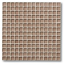 "The Studio 11.75"" x 11.75"" Glass Mosaic Tile in Flax"