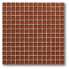 "The Studio 11.75"" x 11.75"" Glass Mosaic Tile in Cayenne"