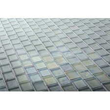 "The Studio 11.13"" x 11.13"" Glass Mosaic Tile in Raindrop"