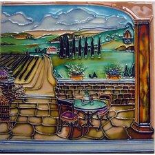 Vineyard Stone Patio Tile Wall Decor