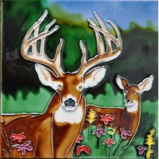 Deer Tile Wall Decor
