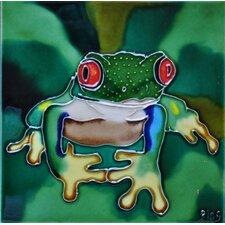 Red Eye Frog Tile Wall Decor