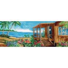 Horizontal Beach House In Brown Tile Wall Decor