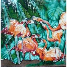 Flamingos Tile Wall Decor