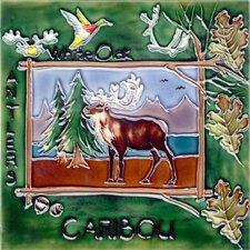 Nature Caribou Tile Wall Decor
