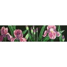 Iris Tile Wall Decor