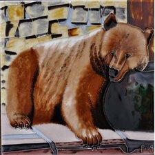 Brown Bear Tile Wall Decor
