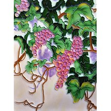 Purple and Green Grapes Tile Wall Decor