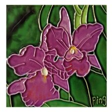 Orchid Tile Wall Decor