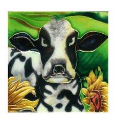 Cow Tile Wall Decor