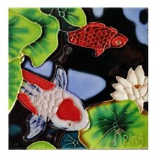 White Fish Red Dots Wall Decor