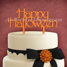 Happy Halloween Wooden Cake Topper