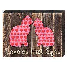 Love and Relations Love at First Sight Decorated Quote Textual Art