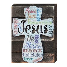 Cross Vintage Decorated Art Reclaimed Textual Art