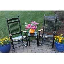 3 Piece Adult Rocking Chair & Table Set