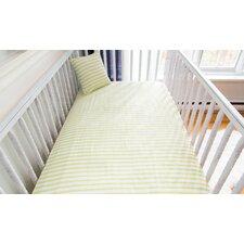 Stripes Organic Crib Fitted Sheet