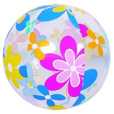 Colorful 6-Panel Flower Print Inflatable Beach Ball Swimming Pool Toy