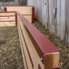 Rectangular Top Caps for Raised Garden Bed (Set of 2)