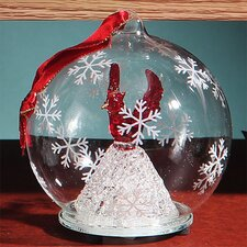 Light Up Glass Red Cardinal Ornament