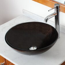 Elite Bronze Tinted Glass Vessel Bathroom Sink