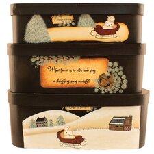 3 Piece Meadow Snowman Stack Box Set