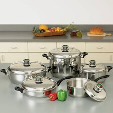 HealthSmart 10 Piece Stainless Steel Cookware Set