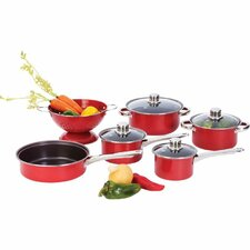 Heavy Gauge 10 Piece Nonstick Stainless Steel Cookware Set