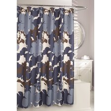 Painted Botanical Fabric Shower Curtain