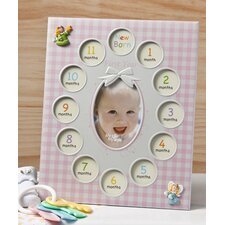 Baby Girls First Year Collage Picture Frame