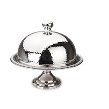 Prism Hammered Stainless Steel Dome Cake Stand