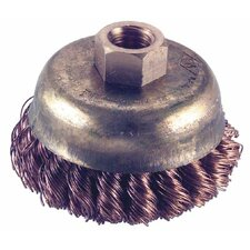 """Knot Wire Cup Brushes - 3"""" dia. cup  5/8-11 thrd. arbor knot wire b"""
