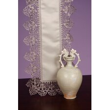 Classic Linen Victorian Pewter Table Runner