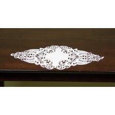 Diamond Shaped Fine Linen Table Accent Piece